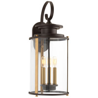 Squire 3 Light 23 inch Antique Bronze and Vintage Brass Outdoor Wall Lantern, Large