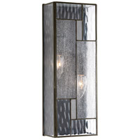 Geometric 2 Light 16 inch Architectural Bronze Outdoor Wall Lantern, Medium
