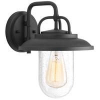Progress P560049-031 Beaufort 1 Light 12 inch Black Outdoor Wall Lantern Small