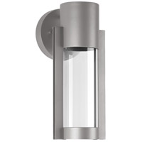 Z-1030 LED 12 inch Metallic Gray Outdoor Wall Lantern in Metallic Grey, Small