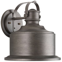 Callahan LED 12 inch Antique Pewter Outdoor Wall Lantern, Medium
