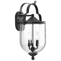 McPherson 3 Light 20 inch Black Outdoor Wall Lantern