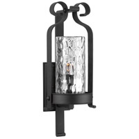 Progress P560075-031 Hermosa 1 Light 26 inch Black Outdoor Wall Lantern Design Series