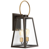 Barnett 2 Light 24 inch Antique Bronze Outdoor Wall Lantern