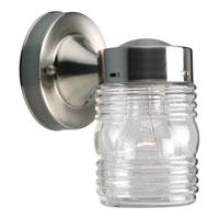 Progress Lighting Utility Lantern 1 Light Outdoor Wall in Brushed Nickel P5602-09
