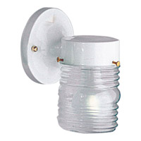Utility Lantern 1 Light 7 inch White Outdoor Wall Lantern