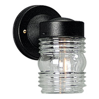 Progress Lighting Utility Lantern 1 Light Outdoor Wall in Black P5602-31