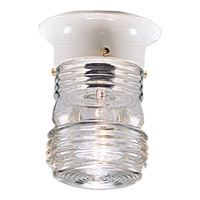 Utility Lantern 1 Light 5 inch White Outdoor Ceiling Lantern