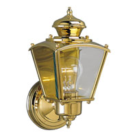 Progress Lighting BrassGUARD 1 Light Outdoor Wall in Polished Brass P5606-10