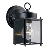 Progress Lighting Flat Glass Lantern 1 Light Outdoor Wall in Black P5607-31