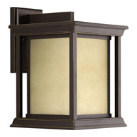 Progress Lighting Endicott 1 Light Outdoor Wall Lantern in Antique Bronze with Etched Umber Linen Glass P5611-20