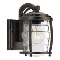 Progress Lighting Signal Bay 1 Light Outdoor Wall Lantern in Oil Rubbed Bronze with Clear Seeded Glass P5614-108