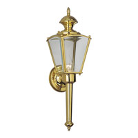 Progress Lighting BrassGUARD 1 Light Outdoor Wall in Polished Brass P5615-10