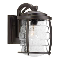 Progress Lighting Signal Bay 1 Light Outdoor Wall Lantern in Oil Rubbed Bronze with Clear Seeded Glass P5618-108
