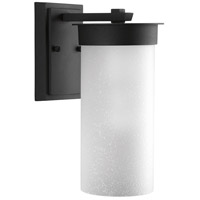 Hawthorne 1 Light 13 inch Black Outdoor Wall Lantern, Etched Seeded Glass