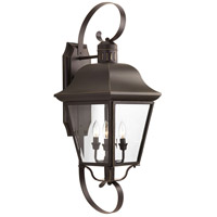 Andover 4 Light 34 inch Antique Bronze Outdoor Wall Lantern, Clear Beveled Glass