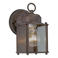 Progress Lighting Flat Glass Lantern 1 Light Outdoor Wall in Cobblestone P5627-33