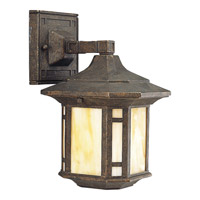 Arts and Crafts 1 Light 11 inch Weathered Bronze Outdoor Wall Lantern
