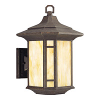 Progress P5629-46 Arts and Crafts 1 Light 15 inch Weathered Bronze Outdoor Wall Lantern in Standard