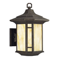Progress P5629-46STR Arts and Crafts 1 Light 15 inch Weathered Bronze Outdoor Wall Lantern in Energy Star Rated photo thumbnail