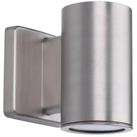 Cylinders LED 6 inch Satin Nickel Outdoor Wall Lantern, Down Light