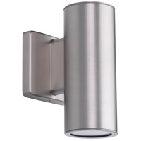 Cylinders LED 8 inch Satin Nickel Outdoor Wall Lantern, Up and Down Light