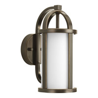 Greetings 1 Light 13 inch Antique Bronze Outdoor Wall Lantern