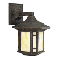 Progress Lighting Arts and Crafts 1 Light Outdoor Wall Lantern in Weathered Bronze P5633-46STR photo thumbnail