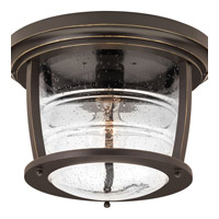 Signal Bay 1 Light 12 inch Oil Rubbed Bronze Outdoor Flush Mount