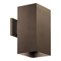 Progress Lighting Square 1 Light Outdoor Wall in Antique Bronze P5643-20