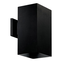 Progress Lighting Square 1 Light Outdoor Wall in Black P5643-31