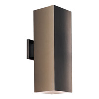 Progress Lighting Square 2 Light Outdoor Wall in Antique Bronze P5644-20