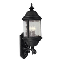 Ashmore 3 Light 28 inch Textured Black Outdoor Wall Lantern