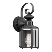 Motion Sensor 1 Light 13 inch Black Outdoor Wall Lantern