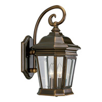 Crawford 2 Light 17 inch Oil Rubbed Bronze Outdoor Wall Lantern