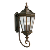 Crawford 3 Light 29 inch Oil Rubbed Bronze Outdoor Wall Lantern