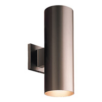 Progress Lighting Cylinder 2 Light Outdoor Wall Lantern in Antique Bronze P5675-20