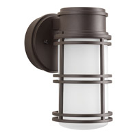 Progress Lighting Bell LED Outdoor Wall Lantern in Antique Bronze with Etched Glass P5676-2030K9