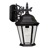 Progress P5683-31 Welbourne 1 Light 18 inch Textured Black Outdoor Wall Lantern in Clear Beveled, Standard alternative photo thumbnail