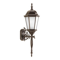 Welbourne 1 Light 31 inch Antique Bronze Outdoor Wall Lantern in Etched, Fluorescent