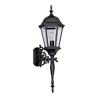 Welbourne 1 Light 31 inch Textured Black Outdoor Wall Lantern in Clear Beveled, Standard