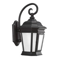 Crawford 1 Light 17 inch Black Outdoor Wall Lantern