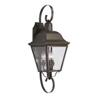 Andover 3 Light 26 inch Antique Bronze Outdoor Wall Lantern