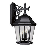 Welbourne 3 Light 22 inch Textured Black Outdoor Wall Lantern