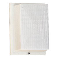 Hard-Nox 1 Light 8 inch White Outdoor Wall Lantern in White Ribbed Polycarbonate