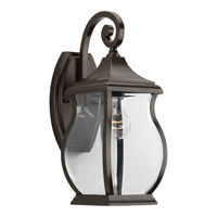 Township 1 Light 15 inch Oil Rubbed Bronze Outdoor Wall Lantern
