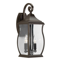 Township 2 Light 18 inch Oil Rubbed Bronze Outdoor Wall Lantern