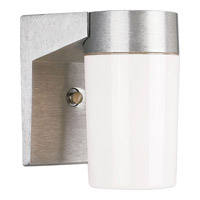 Hard-Nox 1 Light 7 inch Satin Aluminum Outdoor Wall Lantern