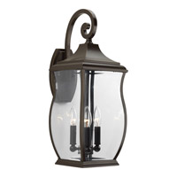 Township 3 Light 22 inch Oil Rubbed Bronze Outdoor Wall Lantern