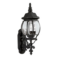 Onion Lantern 3 Light 23 inch Textured Black Outdoor Wall Lantern